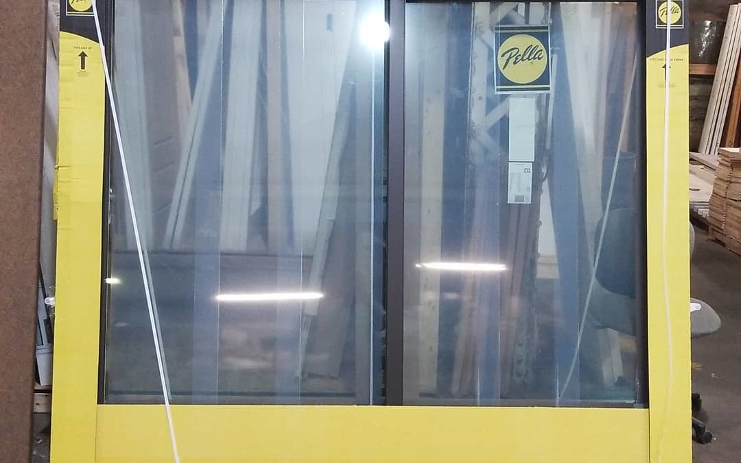 8′ Pella sliding #door Brown exterior  White interior No screen or hardware  Only $995.00