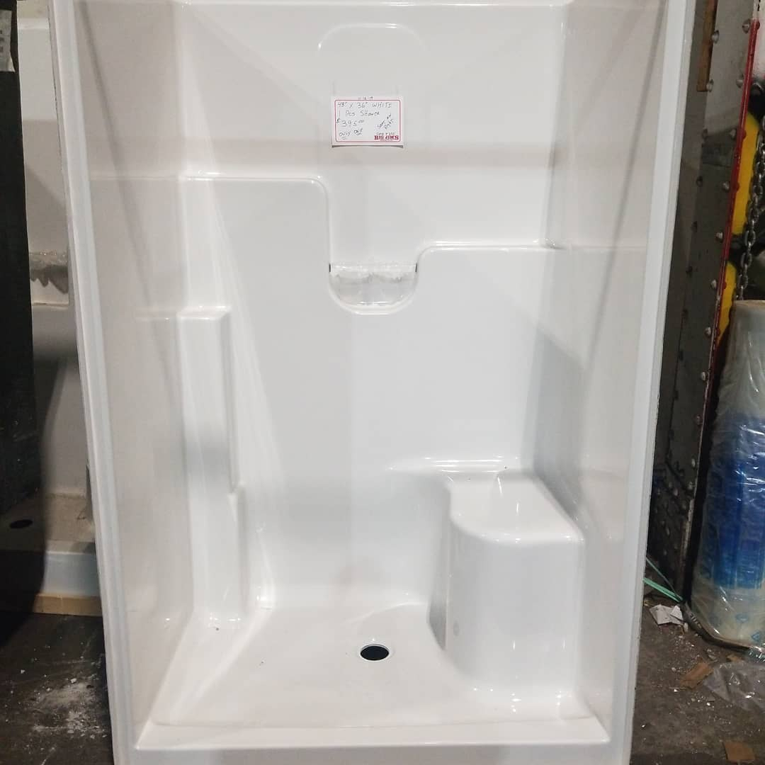 We still have showers  available for that #bathroom upgrade. Stop in soon while we still have inventory.