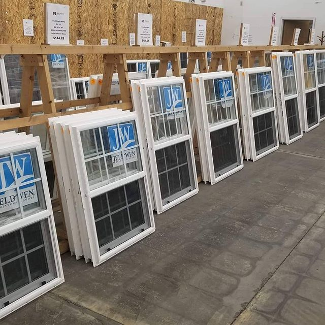 Our stock order of #Jeld-Wen #windows has finally arrived.  They are going fast, so stop in soon